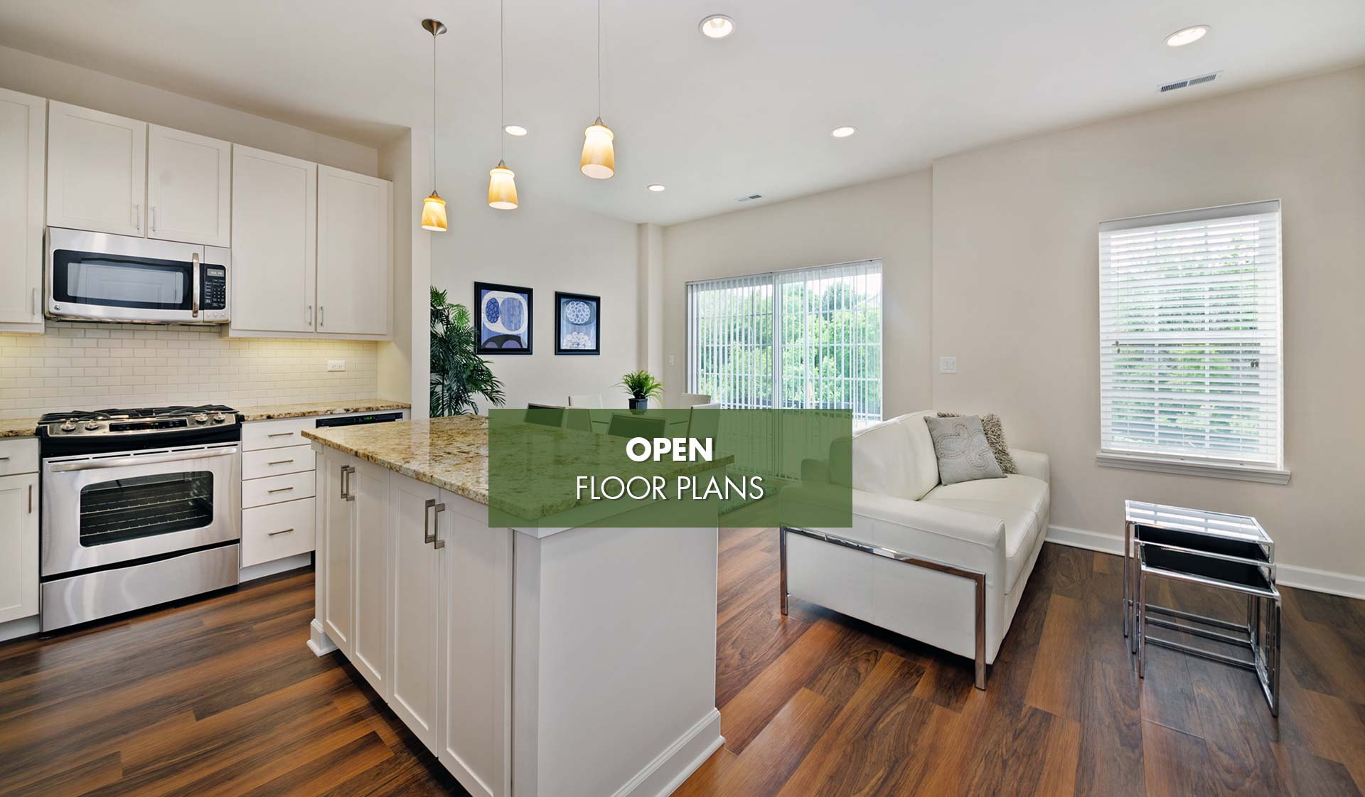 Elm Creek Apartments and Townhomes - Modern Kitchen with Island